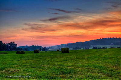 Daybreak On The Farm Art Print by Paul Herrmann
