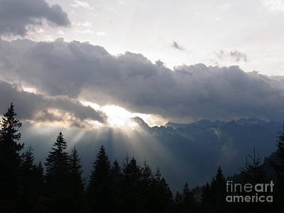 Rare Moments Photograph - Daybreak Over Lepontine Alps by Agnieszka Ledwon