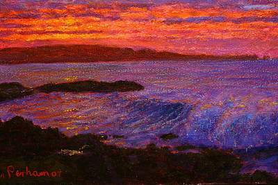 Pastel - Daybreak Porpoise Bay by Terry Perham