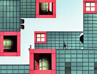 Tetris Block Photograph - Daydream by Koji Tajima