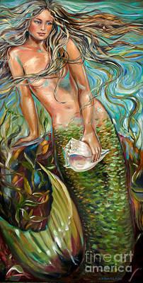 Daydreamer Central Panel Art Print by Linda Olsen