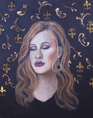 Adele Painting - Daydreaming Goddess by The Art With A Heart By Charlotte Phillips