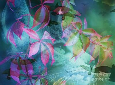 Daydreams Art Digital Art - Daydreaming Kitty by Elizabeth McTaggart