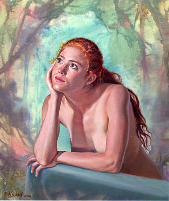 Ladies Painting - Daydreaming by Paul Krapf