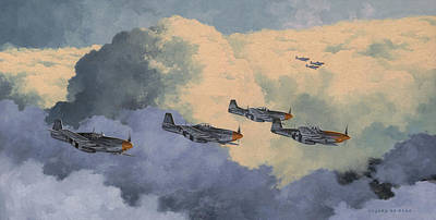 Spitfire Painting - Daydreams Over Cambridgeshire by Wade Meyers
