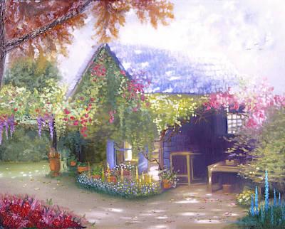 Daylesford Cottage Art Print