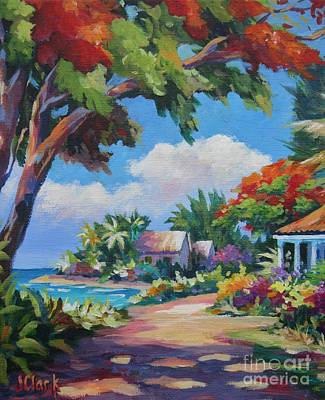 Caribbean Sea Painting - Daylight And Shade by John Clark