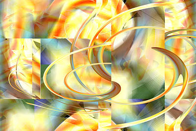 Digital Art - Daylight In The Square by rd Erickson