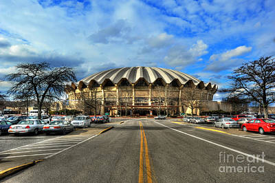 Photograph - Daylight Of Wvu Basketball Coliseum Arena by Dan Friend
