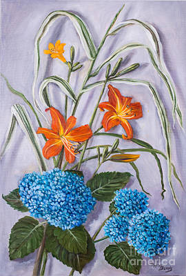 Painting - Violet, Orange And Blue by Randy Burns