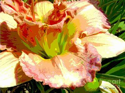 Art Print featuring the photograph Daylily 1 by Sally Simon