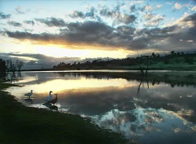 Days End At Horseshoe Lake  Art Print