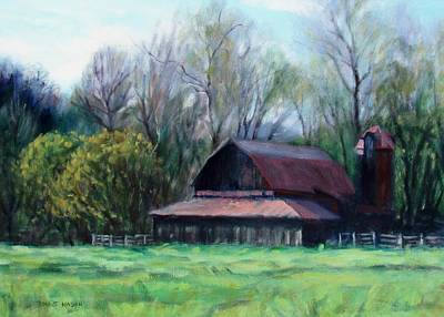 Old Barns Painting - Day's End by Bonnie Mason