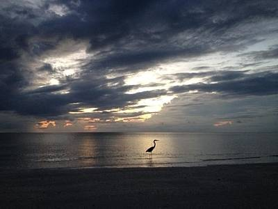 Southwest Florida Sunset Photograph - Day's End by K Simmons Luna