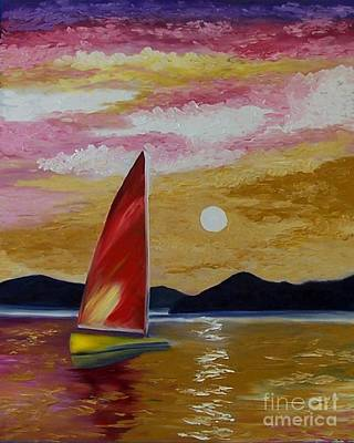 Day's End Art Print by Peggy Miller