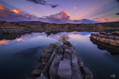 Watson Lake Reflections Photograph - Days End by Peter Coskun