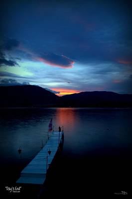 Photograph - Day's End - Skaha Lake 4-19-2014 by Guy Hoffman