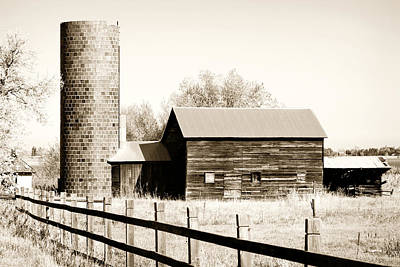 Brick Silos Photograph - Days Gone By by Marilyn Hunt