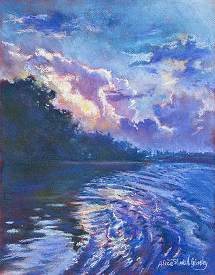 Low Country Painting - Day's Last Light by Alice Grimsley