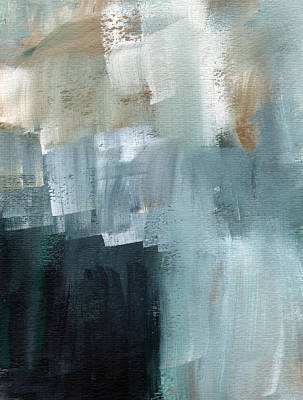 Typographic World - Days Like This - Abstract Painting by Linda Woods