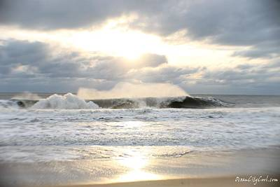 Beach Photograph - Day's Rolling Waves by Robert Banach