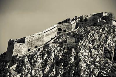 Daytime Palamidi Fortress  Art Print by David Waldo
