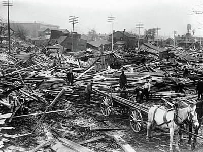 Photograph - Dayton Flood, 1913 by Granger
