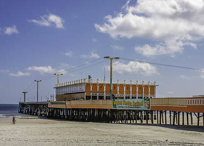 Photograph - Daytona Beach Pier Restaurant by Karen Stephenson