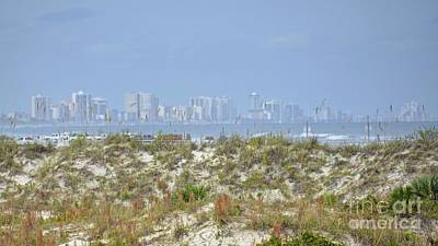 Photograph - Daytona Beach Skyline by Carol  Bradley