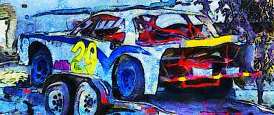 Daytona Bound Number 29 Print by Barbara Snyder