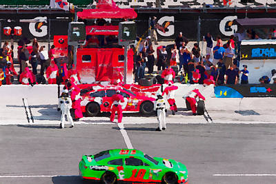 Photograph - Daytona Speedway Race View by Alice Gipson