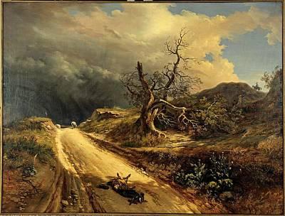 Dog In Landscape Photograph - Dazeglio Massimo, A Revenge, 1834, 19th by Everett