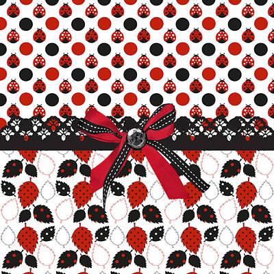 Ladybug Digital Art - Dazzling Ladybugs  by Debra  Miller