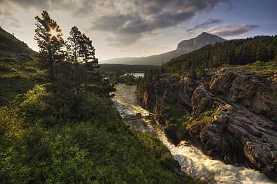 Waterfall Photograph - Dazzling Many Glacier by Mark Kiver