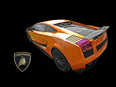 Photograph - Dazzling Orange Lamborghini by Gill Billington