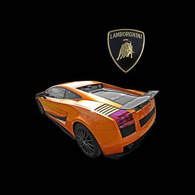 Raging Bull Photograph - Dazzling Orange Lamborghini - Square by Gill Billington