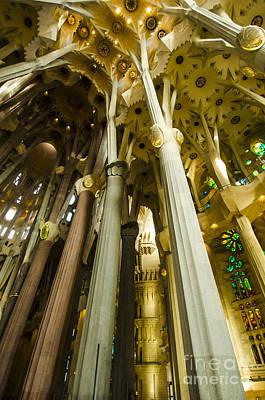 Photograph - Dazzling Sagrada Interior by Deborah Smolinske