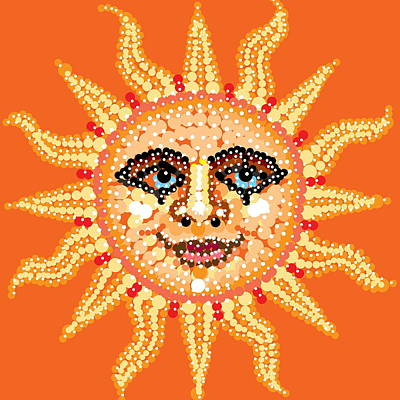 Digital Art - Dazzling Sun by R  Allen Swezey