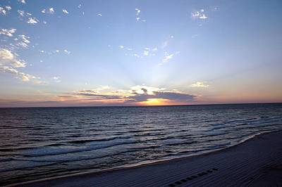 Dazzling Sunset Art Print by Roe Rader