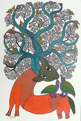 Durga Bai Painting - Db 215 by Durga Bai