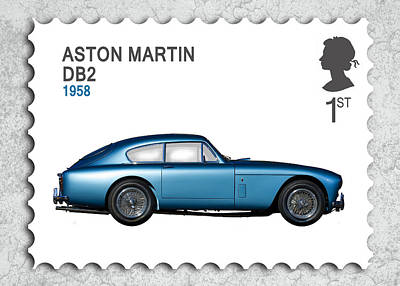 Aston Martin Photograph - Db2 Postage Stamp by Mark Rogan