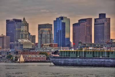 Photograph - Dbl 134 Barge - Boston by Joann Vitali