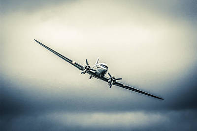 Transportion Photograph - Dc-3 In Dark Skies by Chris Smith