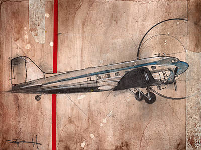 Painting - Dc-3 by Sean Parnell
