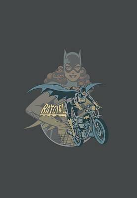 Batgirl Digital Art - Dc - Batgirl Biker by Brand A