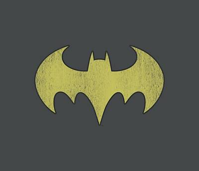 Batgirl Digital Art - Dc - Batgirl Logo Distressed by Brand A