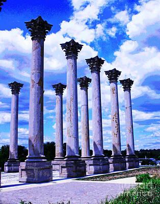 Photograph - Dc Botanical Garden Columns by Larry Oskin