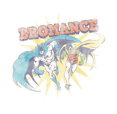 Batman And Robin Digital Art - Dc - Bromance by Brand A