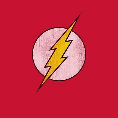 Halloween Digital Art - Dc - Flash Logo Distressed by Brand A