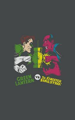 Lantern Digital Art - Dc - Gl Vs Sinestro by Brand A